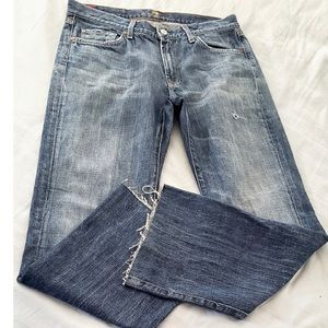 7 For All Mankind Bootcut Ripped Distressed Jeans